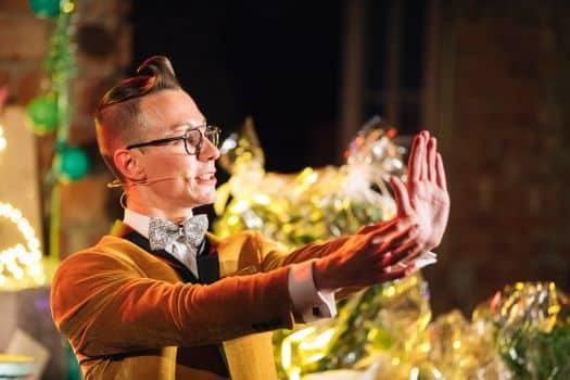 Magier ind Dresden bei einer Hochzeit